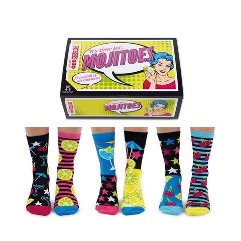 United Odd Socks Socks It's Time For Mojitoes Ladies Novelty Socks