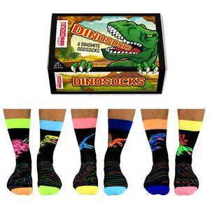 United Odd Socks Socks Mens Novelty Dinosocks - Size 6-11