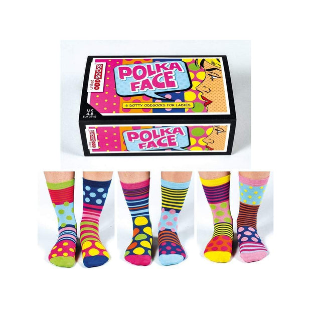 United Odd Socks Socks Polka Face Ladies United Odd Socks - UK 4-8