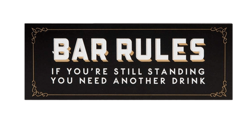 Widdop Gifts Wall Signs & Plaques Bar Rules Plaque