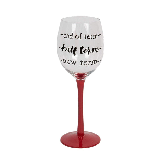Widdop Gifts Glassware Fun End of Term Teachers Wine Glass