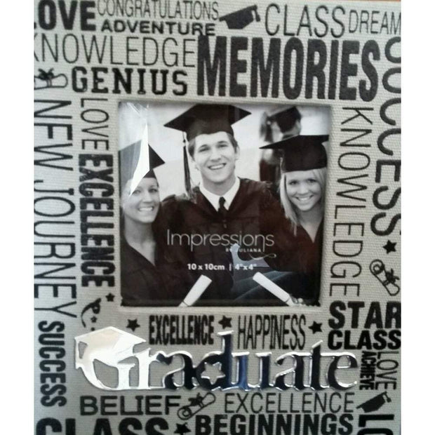 Widdop Gifts Photo Frames & Albums Graduation Grey Canvas  Photo Frame