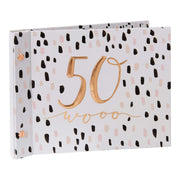 Widdop Gifts Photo Frames & Albums Ladies 50th Birthday Photo Album with Message Space