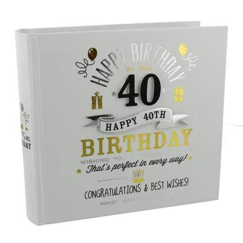 Widdop Gifts Photo Frames & Albums Signography 40th Birthday Photo Album
