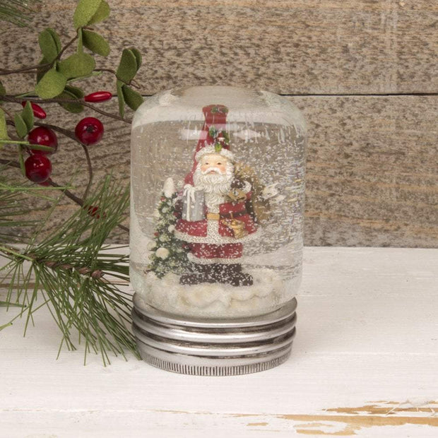 Widdop Gifts Snow Globes, Christmas Decorations Father Christmas Lidded Jar Snowglobe Decoration