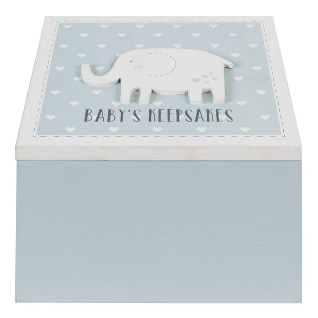 Widdop Gifts Trinket & keepsake Boxes Baby Boy Wooden Keepsakes Box