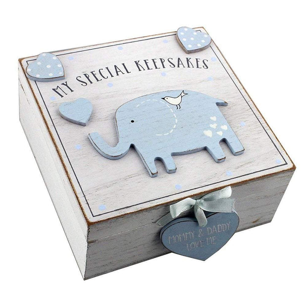 Widdop Gifts Trinket & keepsake Boxes Baby Boy Wooden My Special Keepsakes Box