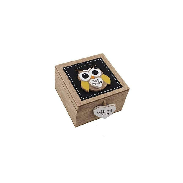 Widdop Gifts Trinket & keepsake Boxes 'Best Teacher' Owl Trinket Box