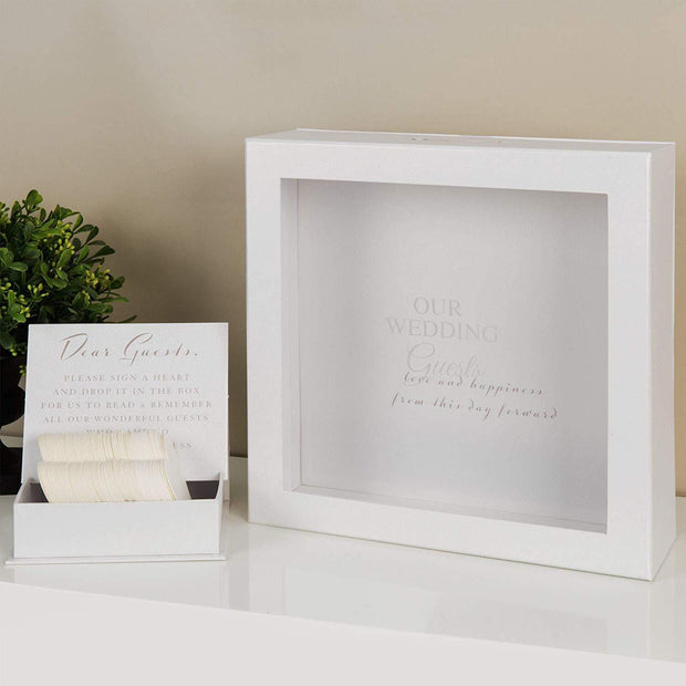 Widdop Gifts Trinket & keepsake Boxes Our Wedding Guests Token Message Box