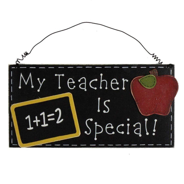 Widdop Gifts Wall Signs & Plaques Special Teacher Hanging Chalkboard Wall Plaque