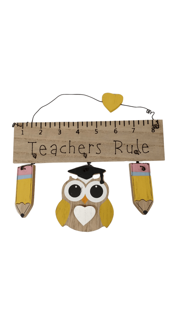 Widdop Gifts Wall Signs & Plaques Teachers Rule Hanging Plaque