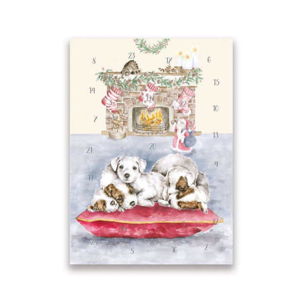 Wrendale Designs Advent Calendar All I Want For Christmas Advent Christmas Card