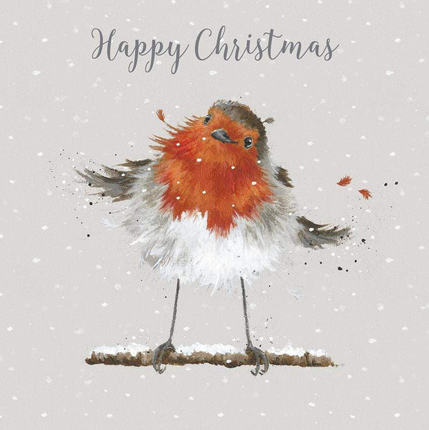 Wrendale Designs christmas cards 'Christmas Robin' 8 Luxury Christmas Cards