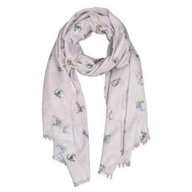 Wrendale Designs Scarves Copy of 'Feathers and Forelocks' Scarf with Gift Bag