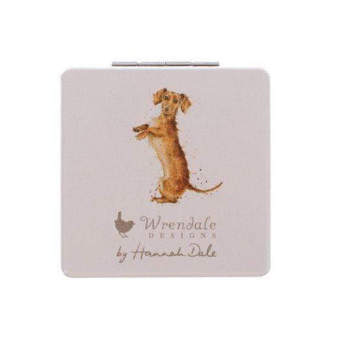 Wrendale Designs Compact Mirrors Copy of Illustrated Dachshund Compact Mirror
