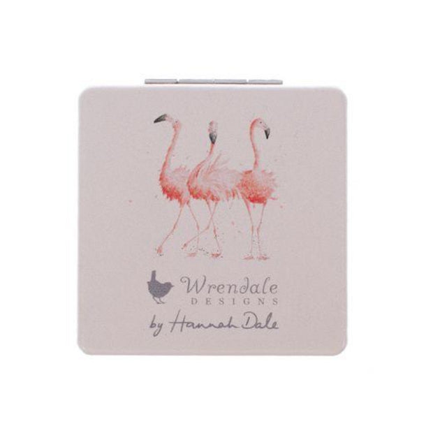 Wrendale Designs Compact Mirrors Illustrated Pink Flamingo Compact Mirror