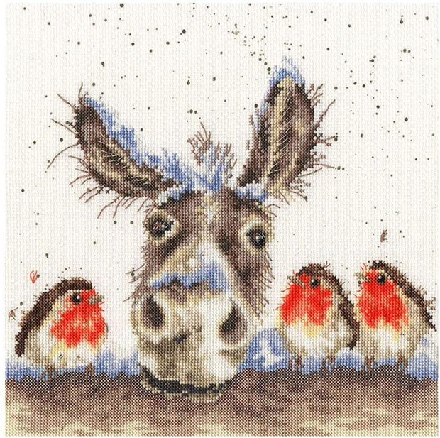Wrendale Designs Craft Sets Christmas Donkey Choice of Design Cross Stitch Kits