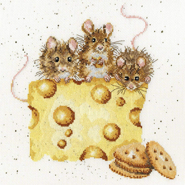 Wrendale Designs Craft Sets Crackers About Cheese Choice of Design Cross Stitch Kits