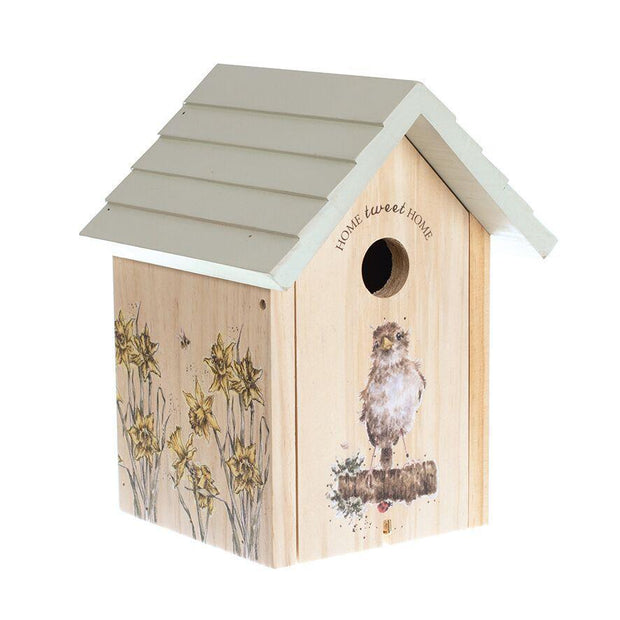 Wrendale Designs Garden Accessories Sparrow Birdhouse with 32mm Hole