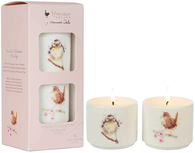 Wrendale Designs Candles & Diffusers Hawthorn Blossom & Rosehip Fragranced Set of 2 Candles