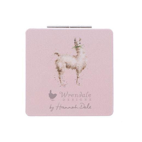 Wrendale Designs Compact Mirrors Illustrated Llama Compact Mirror