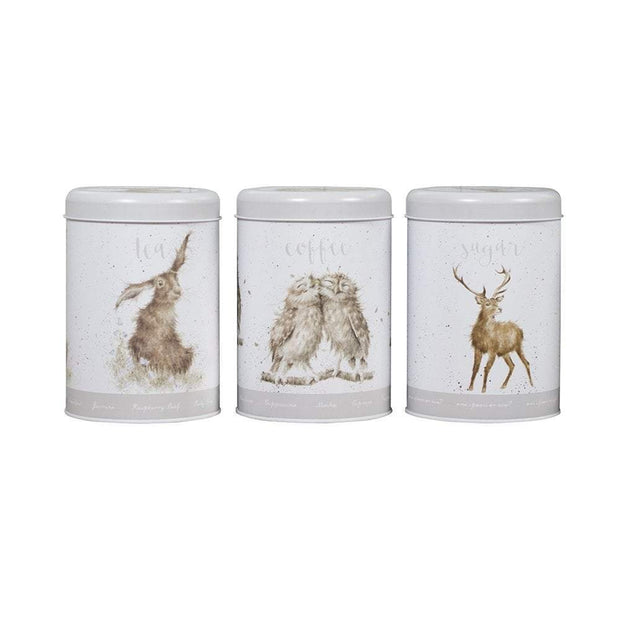 Wrendale Designs Jugs Illustrated Set of 3 Tea, Coffee, Sugar Storage Canisters