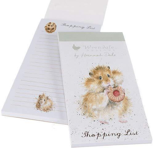 Wrendale Designs Magnetic Notepads Hamster Illustrated Magnetic Shopping List Pad