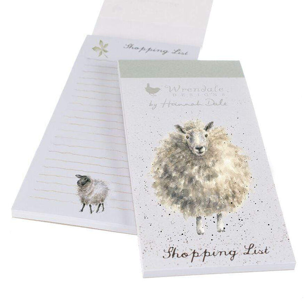 Wrendale Designs Magnetic Notepads Sheep Illustrated Magnetic Shopping List Pad