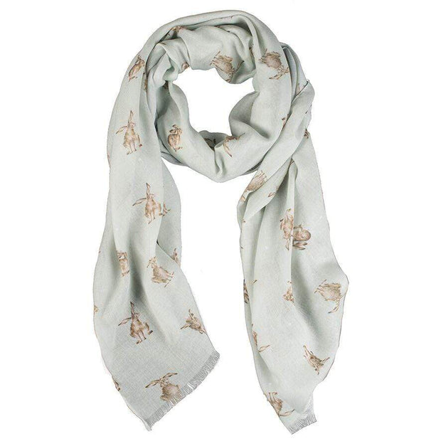 Wrendale Designs Scarves Leaping Hares Scarf with Gift Box