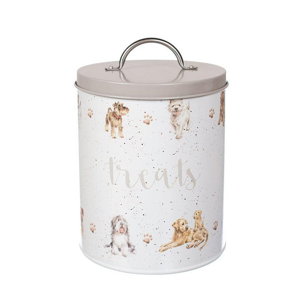 Wrendale Designs Storage Tins, Pet Accessories Dog Illustrated Doggy Treat Tin