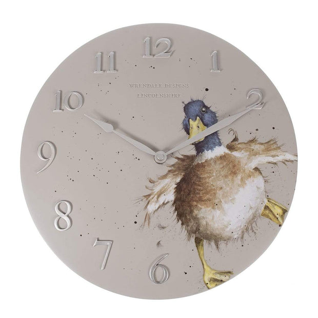 Wrendale Designs Wall Clocks Duck Design Clock
