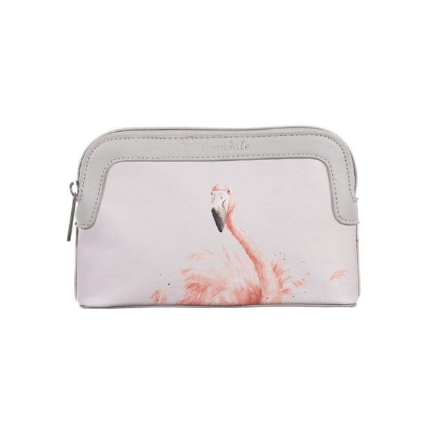 Wrendale Designs Wash & Make Up Bags Flamingo Design Small Cosmetic Bag