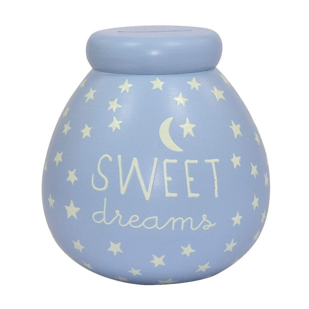 Xpressions Money Boxes Pot Of Dreams Baby Boy Glow In The Dark Breakable Money Pot