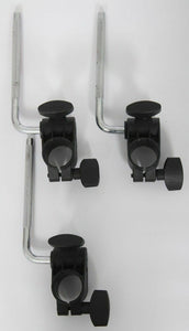 3x Roland MDH-6U Clamps and L-Arms/Rods V-Drums Tom, Snare or Cymbal Pad Mounts