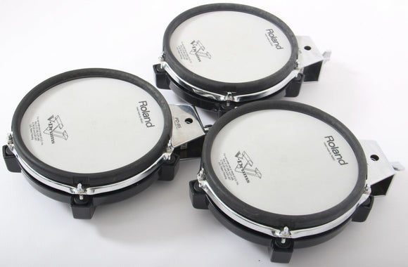 3x Roland PD-85 Mesh Electronic Snare / Tom Drum Trigger Pads For Drum Kit