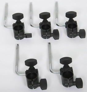 5x Roland MDH-6U TYPE 1  Clamps and L-Arms V-Drums Pad Mount