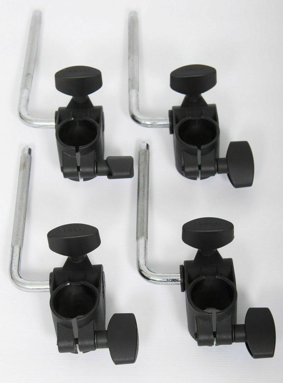 4x Roland MDH-6U Clamps and L-Arms/Rods V-Drums Tom, Snare or Cymbal Pad Mounts