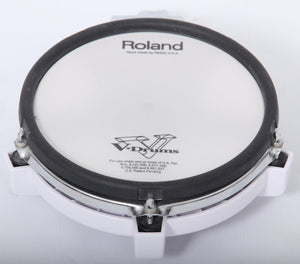 Roland PD-85 WHITE Mesh Dual Zone/Trigger Electronic Snare/Tom Drum Pad