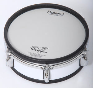 "Roland PD-105 WHITE 10"" Dual Zone/Trigger Mesh Electronic Drum Pad Electric Kit 1"
