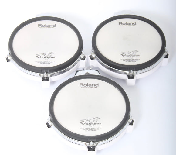 3x Roland PD-85 WHITE Roland PD-85 Mesh Dual Zone/Trigger Electronic Snare Drum/Toms