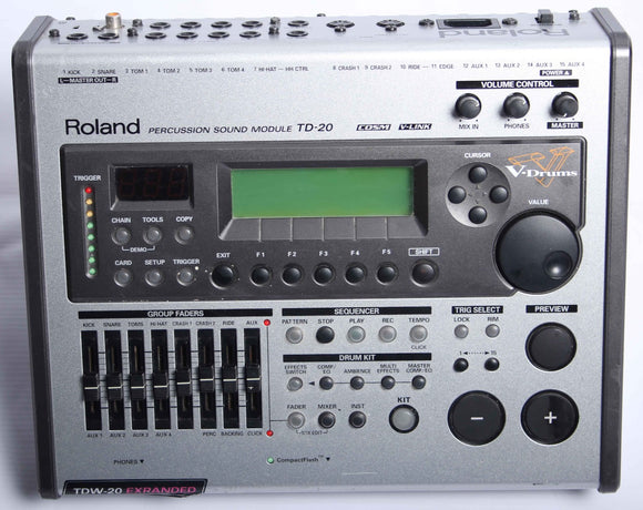 Roland TD-20 Expanded TDW-20 Electronic Drum Kit Module / Brain