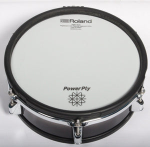 "Roland PD-105BK Powerply Mesh Head 10"" Dual Zone Electronic Drum Pad"