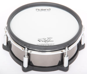 "Roland PD-108-BC 10"" Black Chrome Dual Trigger Mesh Snare/Tom Electronic Drum Pad"