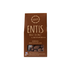 Entis milk chocolate with crickets. Edible insects are here tastier than ever!