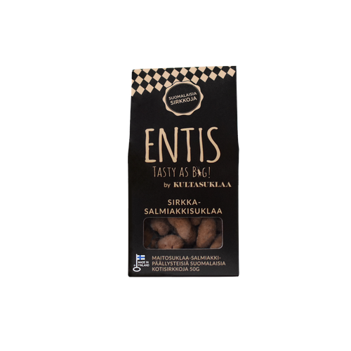 Entis cricket chocolate liquorice package