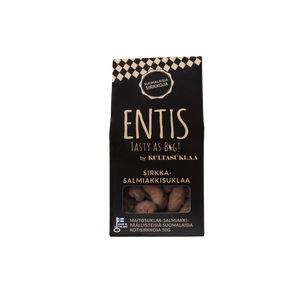 Entis Salmiakki chocolate with crickets. Edible insects are here tastier than ever!