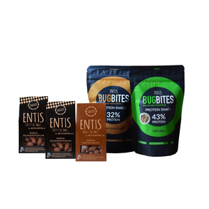 cricket protein products and cricket chocolate products made of edible insects