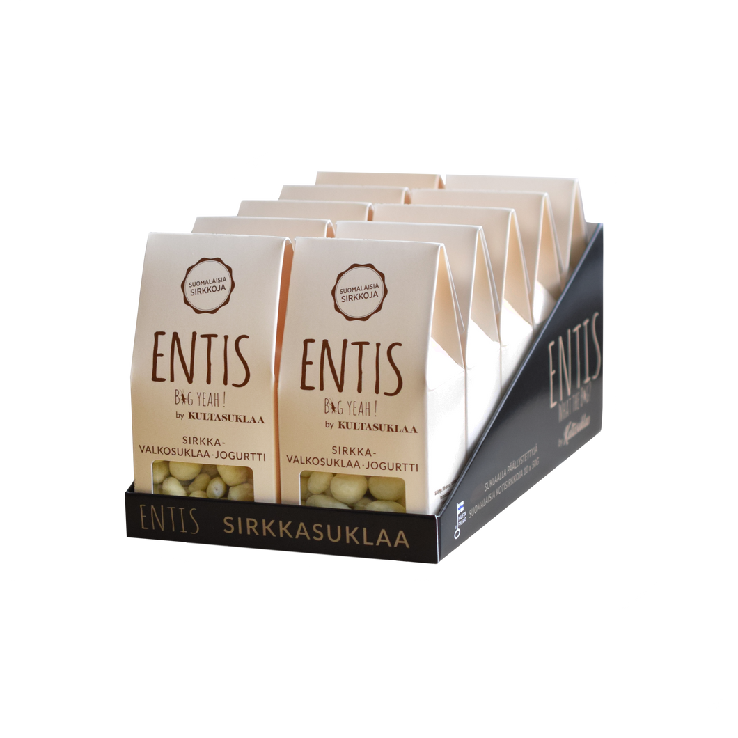 Entis cricket with white chocolate and yoghurt 10 pack