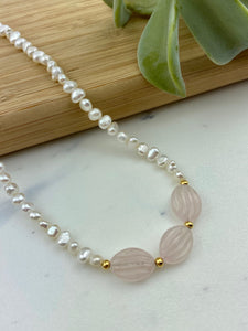 Rose Quartz Choker