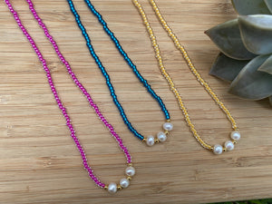 Colorful Pearls (Blue, Pink, Yellow)